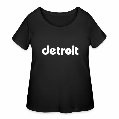 Detroit stars white - Women's Curvy T-Shirt