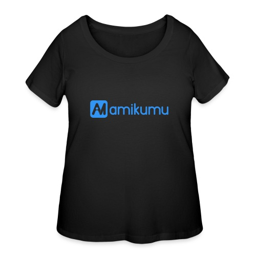 Amikumu Logo Blue - Women's Curvy T-Shirt