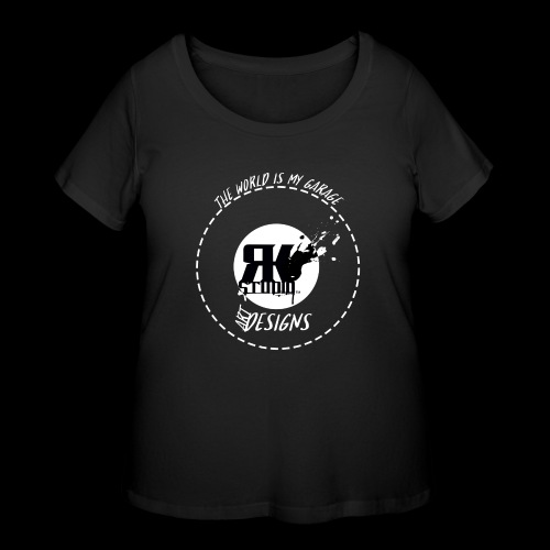 The World is My Garage - Women's Curvy T-Shirt