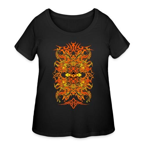 Eternal Voyage II - Gold - Women's Curvy T-Shirt
