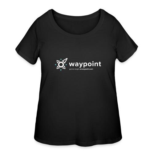 Waypoint Logo (Light Version) - Women's Curvy T-Shirt