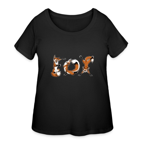 YOGA Foxes - Women's Curvy T-Shirt