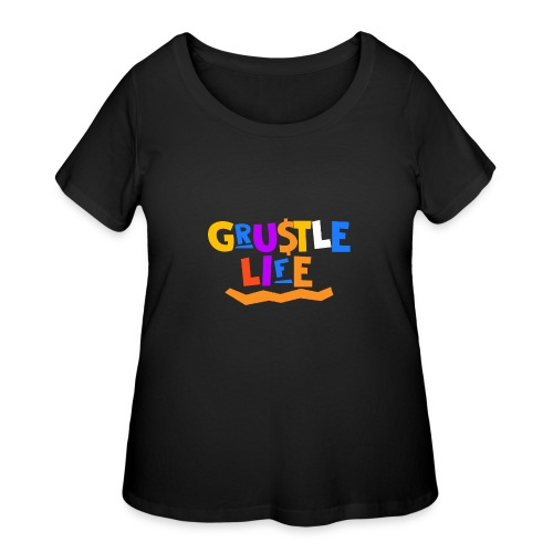GRUSTLE LIFE MY BROTHER AND ME - Women's Curvy T-Shirt