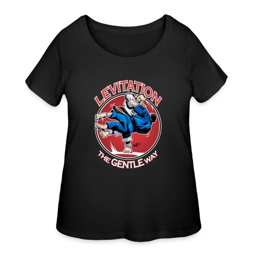 Judo Levitation for dark shirt - Women's Curvy T-Shirt