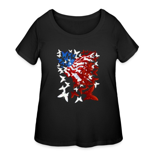 The Butterfly Flag - Women's Curvy T-Shirt