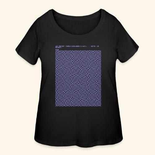 10 PRINT CHR$(205.5 RND(1)); : GOTO 10 - Women's Curvy T-Shirt