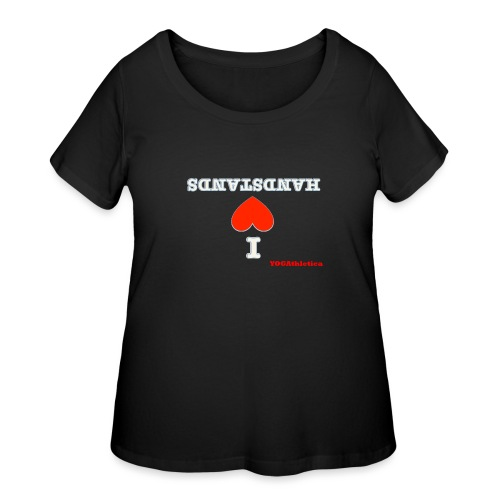 i love handstands - Women's Curvy T-Shirt