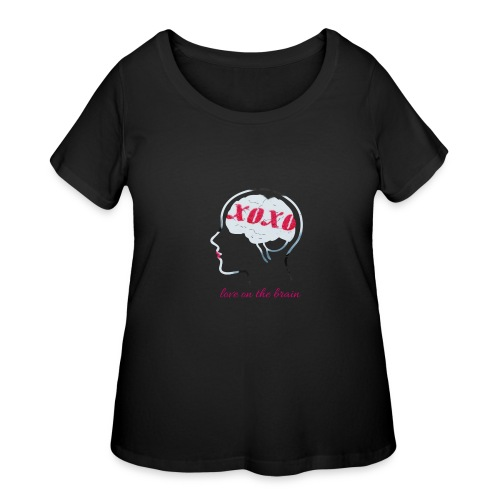 Love on the brain - Women's Curvy T-Shirt