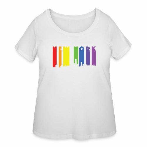 New York design Rainbow - Women's Curvy T-Shirt