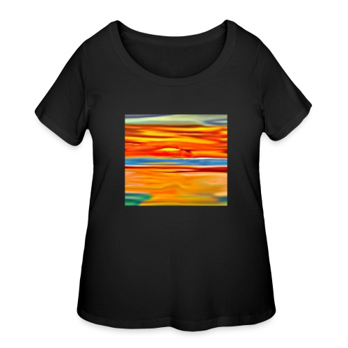 Orange rise - Women's Curvy T-Shirt
