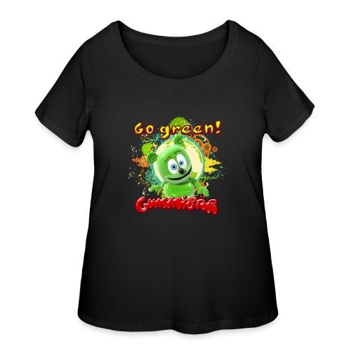 Gummibär Go Green Earth Day Trees - Women's Curvy T-Shirt