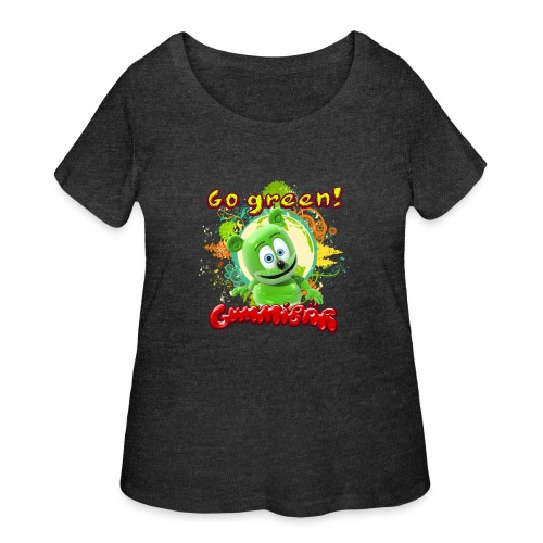 Gummibär Go Green Earth Day Trees - Women's Curvy T-Shirt