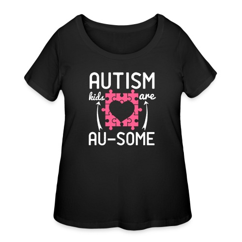 Autism kids are Ausome - Women's Curvy T-Shirt