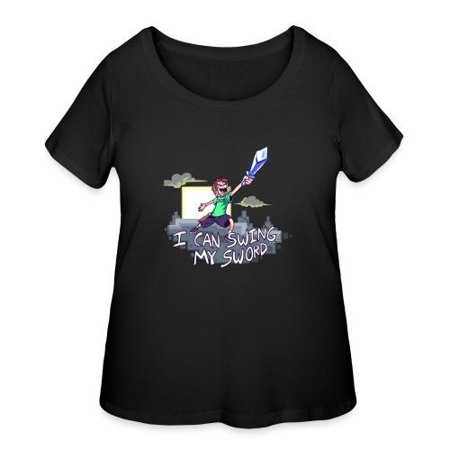I Can Swing My Sword - Women's Curvy T-Shirt