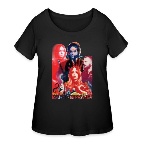 Mantis and the Prayer- Magick Image - Women's Curvy T-Shirt