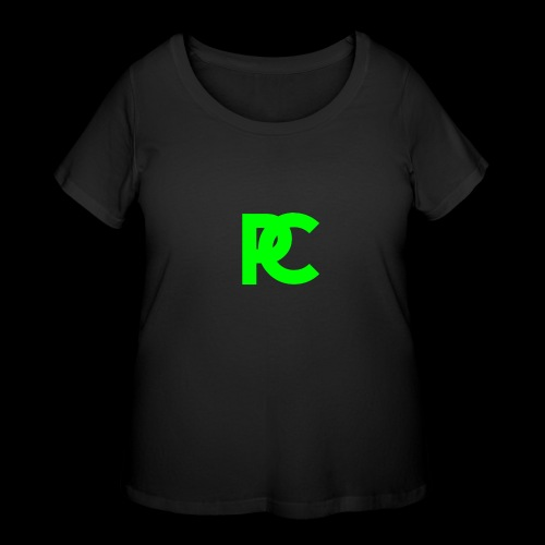 Patrick Calliza Green Logo - Women's Curvy T-Shirt