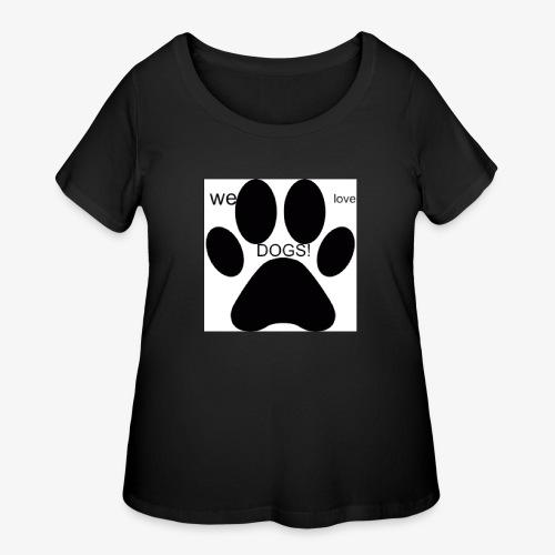 WE LOVE DOGS!!!!!!! - Women's Curvy T-Shirt