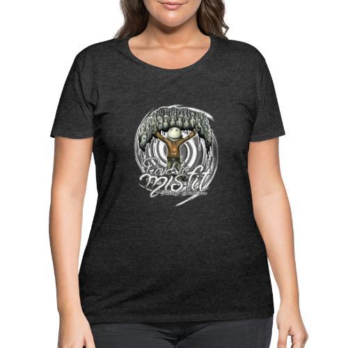 proud to misfit - Women's Curvy T-Shirt