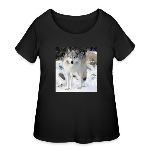 Canis lupus occidentalis - Women's Curvy T-Shirt