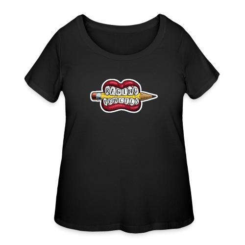 Raging Pencils Bargain Basement logo t-shirt - Women's Curvy T-Shirt