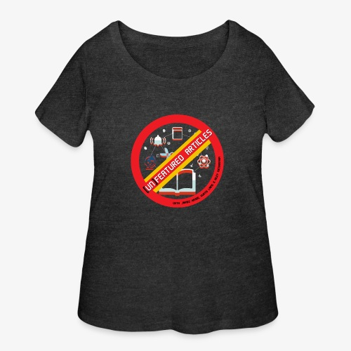 unFeatured Articles Logo - Women's Curvy T-Shirt