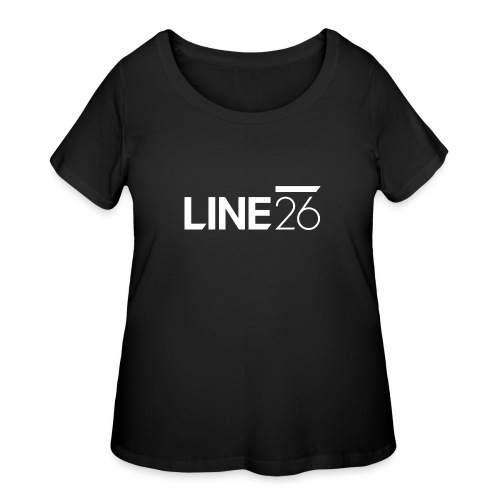Line26 Logo (Light Version) - Women's Curvy T-Shirt