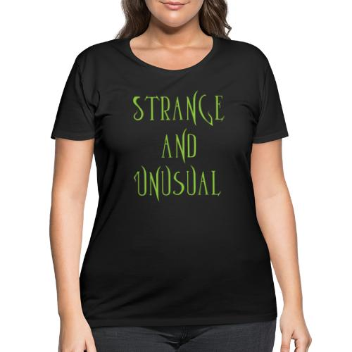 strange unusual - Women's Curvy T-Shirt