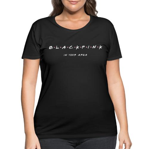 Black Pink Friends - Women's Curvy T-Shirt