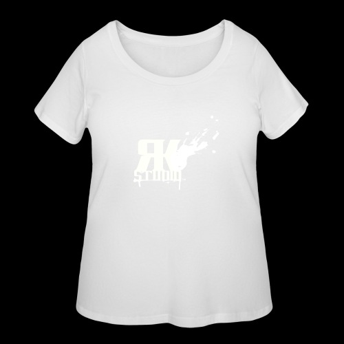 RKStudio White Logo Version - Women's Curvy T-Shirt