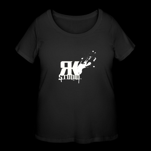 RKStudio White Logo Version - Women's Curvy T-Shirt