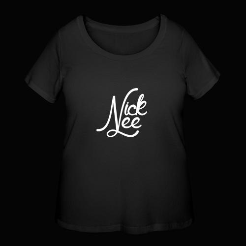 Nick Lee Logo - Women's Curvy T-Shirt