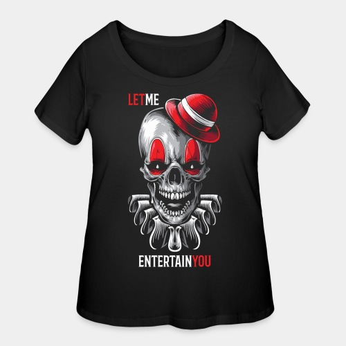 clown entertain horror - Women's Curvy T-Shirt