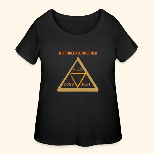 Run4Dogs Triangle - Women's Curvy T-Shirt
