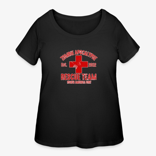 Zombie Help Team - Women's Curvy T-Shirt