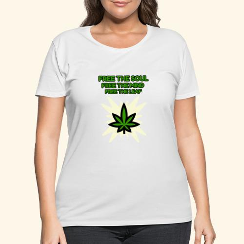 FREE THE SOUL - FREE THE MIND - FREE THE LEAF - Women's Curvy T-Shirt