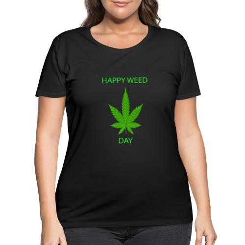 HAPPY WEED DAY - Women's Curvy T-Shirt