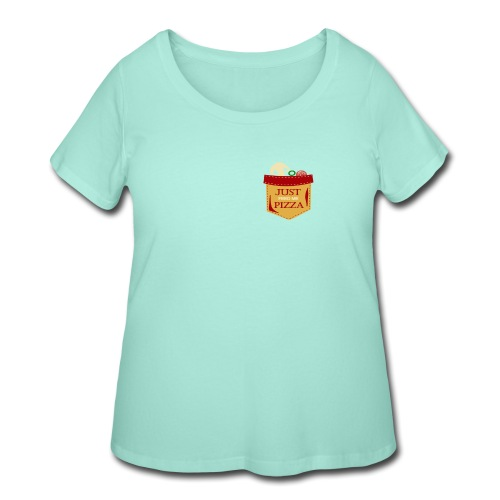 Just feed me pizza - Women's Curvy T-Shirt
