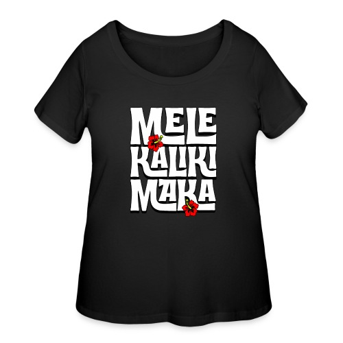 Mele Kalikimaka Hawaiian Christmas Song - Women's Curvy T-Shirt