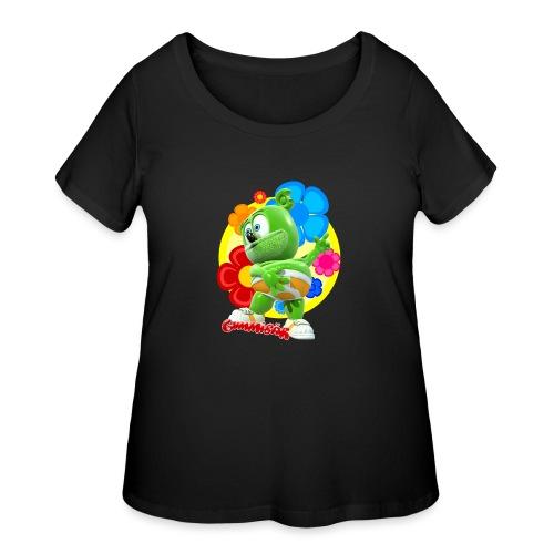 Gummibär Flowers - Women's Curvy T-Shirt