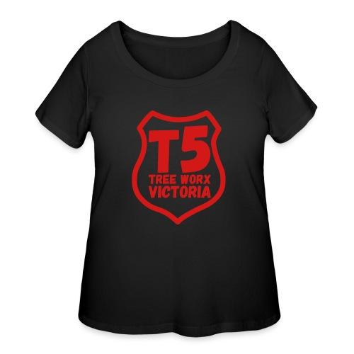 T5 tree worx shield - Women's Curvy T-Shirt