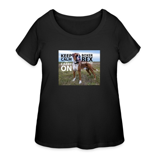 Keep calm and carry on - Women's Curvy T-Shirt