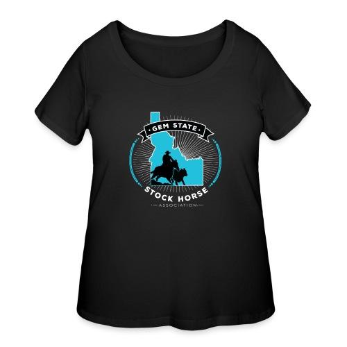 Turquose Sunburst Logo - Women's Curvy T-Shirt