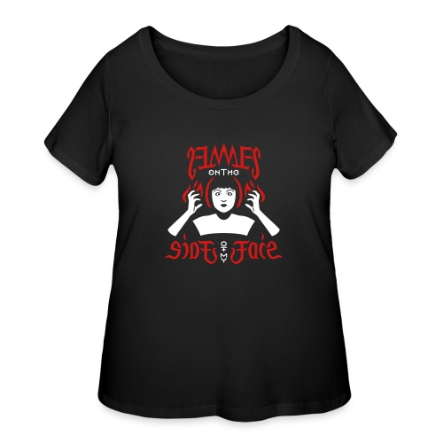 Flames on the Sides of my Face - Women's Curvy T-Shirt
