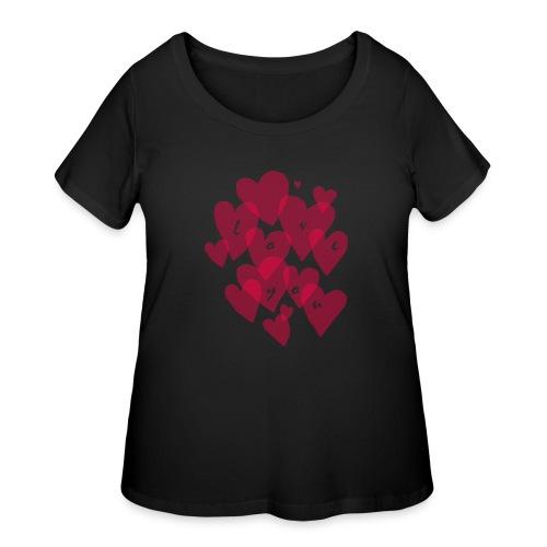 love you - Women's Curvy T-Shirt