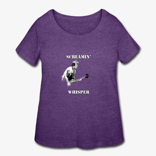 Screamin' Whisper Filth Design - Women's Curvy T-Shirt
