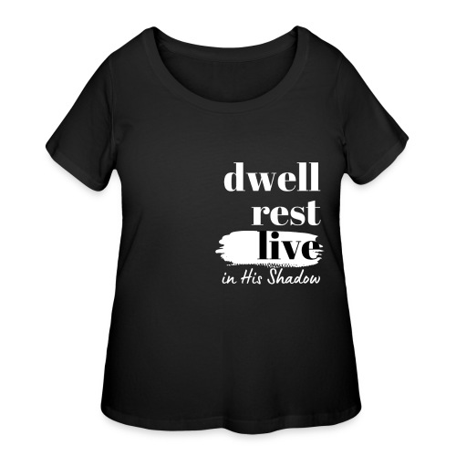 In His Shadow Tee (White) - Women's Curvy T-Shirt