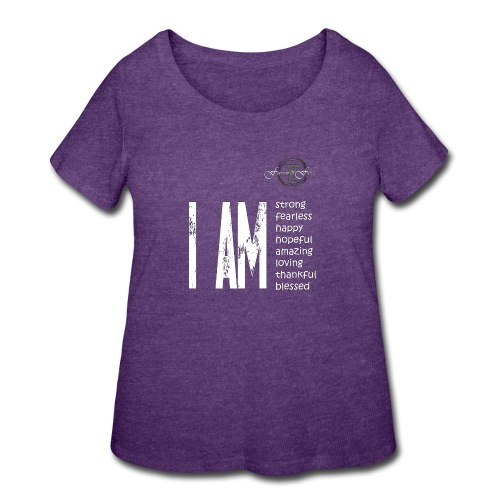 I AM ... Feminine and Fierce - Women's Curvy T-Shirt