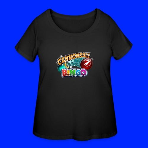 Vintage Cannonball Bingo Logo - Women's Curvy T-Shirt