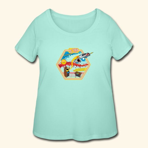 LaserBlast (for darkshirts) - Women's Curvy T-Shirt