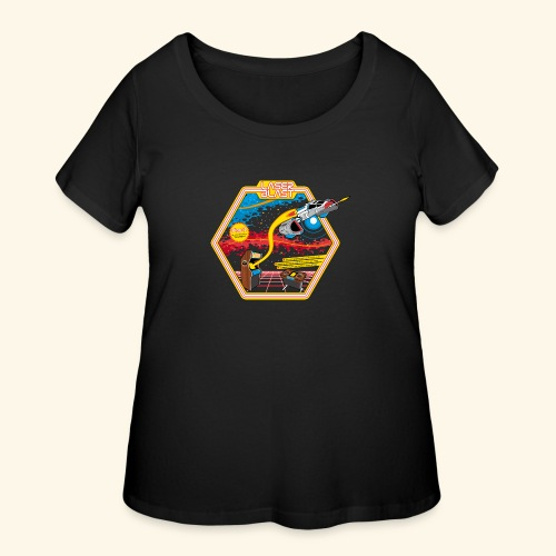 LaserBlast (for darkshirts) - Women's Curvy T-Shirt